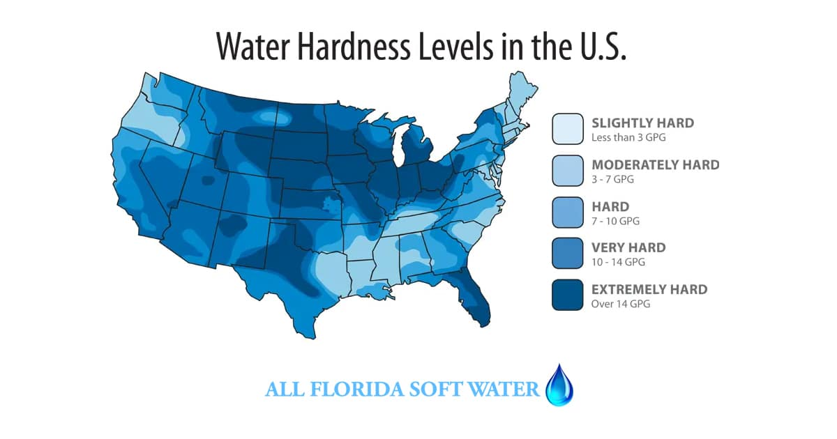 Do we need Water Softeners in Jacksonville Florida - Hard Water by Region